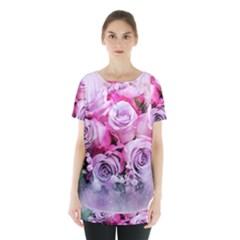 Flowers Roses Bouquet Art Abstract Skirt Hem Sports Top