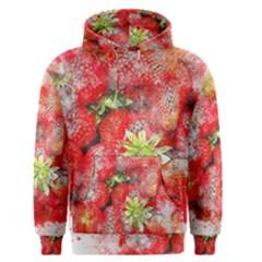 Strawberries Fruit Food Art Men s Pullover Hoodie