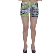 River Bridge Art Abstract Nature Skinny Shorts