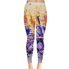 Fruit Plums Art Abstract Nature Leggings