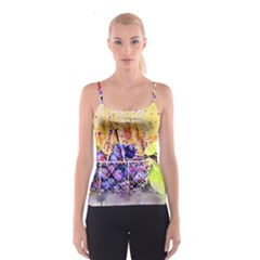 Fruit Plums Art Abstract Nature Spaghetti Strap Top