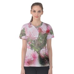 Flowers Roses Art Abstract Nature Women s Cotton Tee