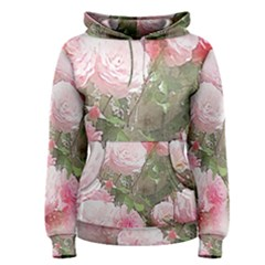 Flowers Roses Art Abstract Nature Women s Pullover Hoodie