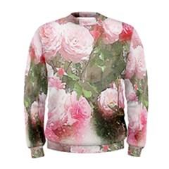 Flowers Roses Art Abstract Nature Men s Sweatshirt