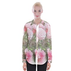 Flowers Roses Art Abstract Nature Womens Long Sleeve Shirt