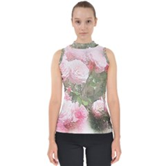 Flowers Roses Art Abstract Nature Shell Top