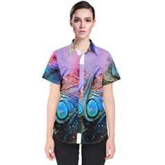 Lizard Reptile Art Abstract Animal Women s Short Sleeve Shirt