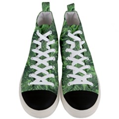 Geological Surface Background Men s Mid Top Canvas Sneakers