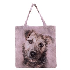 Dog Pet Terrier Art Abstract Grocery Tote Bag