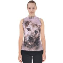 Dog Pet Terrier Art Abstract Shell Top