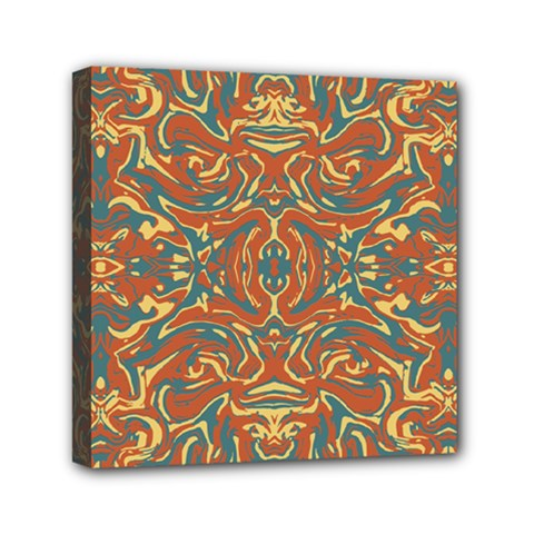 Multicolored Abstract Ornate Pattern Canvas Travel Bag