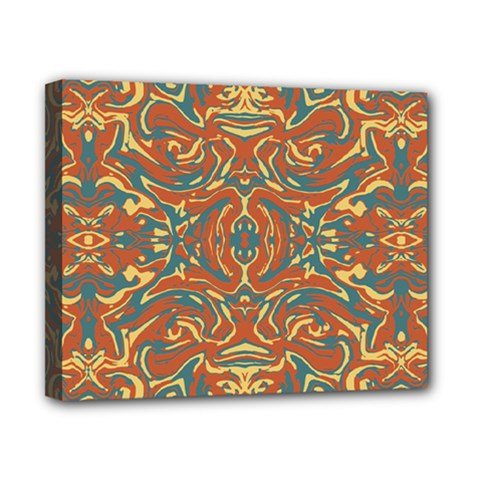 Multicolored Abstract Ornate Pattern Canvas 10  X 8