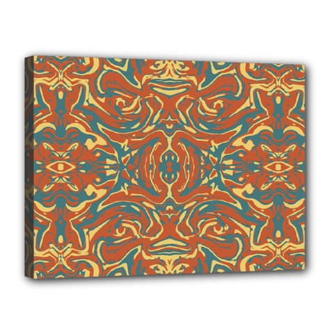 Multicolored Abstract Ornate Pattern Canvas 16  X 12