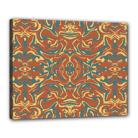 Multicolored Abstract Ornate Pattern Canvas 20  X 16