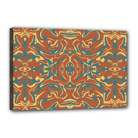 Multicolored Abstract Ornate Pattern Canvas 18  X 12