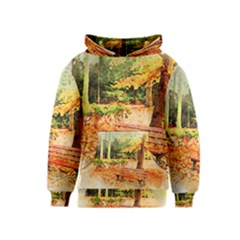 Tree Park Bench Art Abstract Kids  Pullover Hoodie