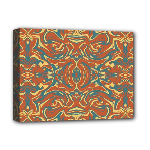 Multicolored Abstract Ornate Pattern Deluxe Canvas 16  X 12