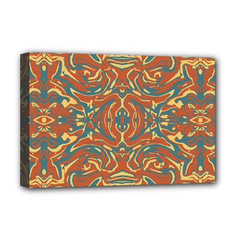 Multicolored Abstract Ornate Pattern Deluxe Canvas 18  X 12