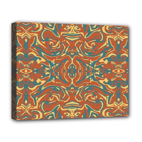 Multicolored Abstract Ornate Pattern Deluxe Canvas 20  X 16