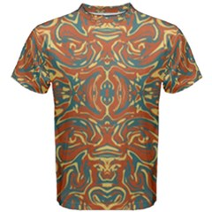 Multicolored Abstract Ornate Pattern Men s Cotton Tee