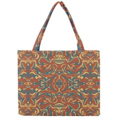 Multicolored Abstract Ornate Pattern Mini Tote Bag