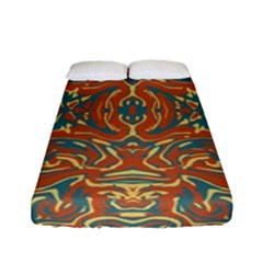 Multicolored Abstract Ornate Pattern Fitted Sheet (full/ Double Size)