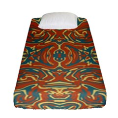 Multicolored Abstract Ornate Pattern Fitted Sheet (single Size)