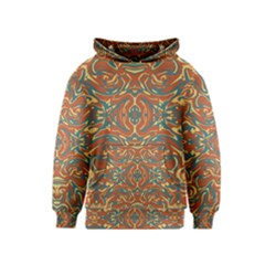 Multicolored Abstract Ornate Pattern Kids  Pullover Hoodie