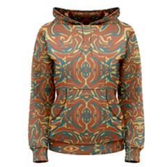 Multicolored Abstract Ornate Pattern Women s Pullover Hoodie