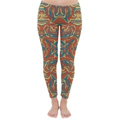 Multicolored Abstract Ornate Pattern Classic Winter Leggings