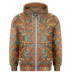 Multicolored Abstract Ornate Pattern Men s Zipper Hoodie