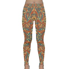 Multicolored Abstract Ornate Pattern Classic Yoga Leggings