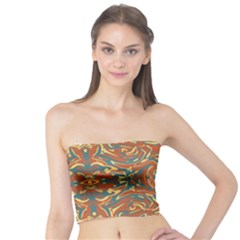 Multicolored Abstract Ornate Pattern Tube Top