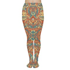 Multicolored Abstract Ornate Pattern Women s Tights
