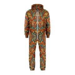 Multicolored Abstract Ornate Pattern Hooded Jumpsuit (kids)