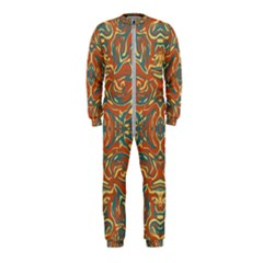 Multicolored Abstract Ornate Pattern Onepiece Jumpsuit (kids)