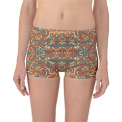 Multicolored Abstract Ornate Pattern Boyleg Bikini Bottoms