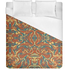 Multicolored Abstract Ornate Pattern Duvet Cover (california King Size)