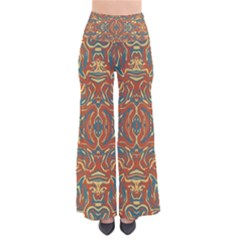 Multicolored Abstract Ornate Pattern Pants
