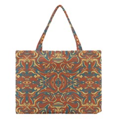Multicolored Abstract Ornate Pattern Medium Tote Bag