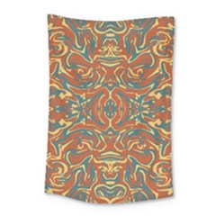 Multicolored Abstract Ornate Pattern Small Tapestry