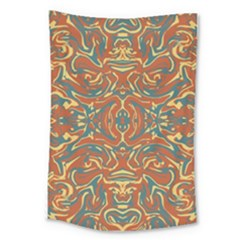 Multicolored Abstract Ornate Pattern Large Tapestry