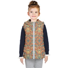 Multicolored Abstract Ornate Pattern Kid s Puffer Vest