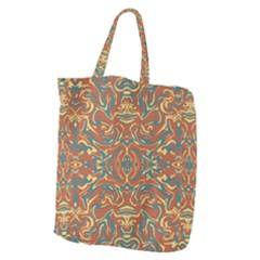 Multicolored Abstract Ornate Pattern Giant Grocery Zipper Tote
