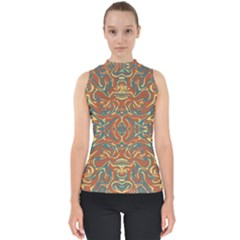 Multicolored Abstract Ornate Pattern Shell Top