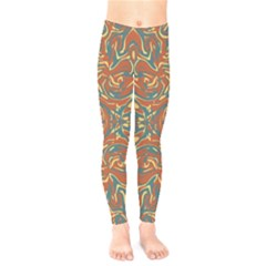 Multicolored Abstract Ornate Pattern Kids  Legging
