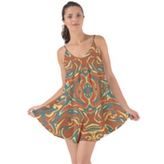 Multicolored Abstract Ornate Pattern Love The Sun Cover Up
