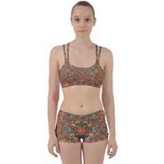Multicolored Abstract Ornate Pattern Women s Sports Set