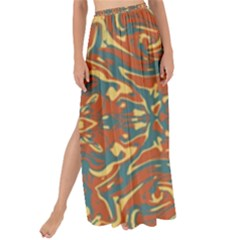 Multicolored Abstract Ornate Pattern Maxi Chiffon Tie Up Sarong