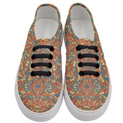 Multicolored Abstract Ornate Pattern Women s Classic Low Top Sneakers